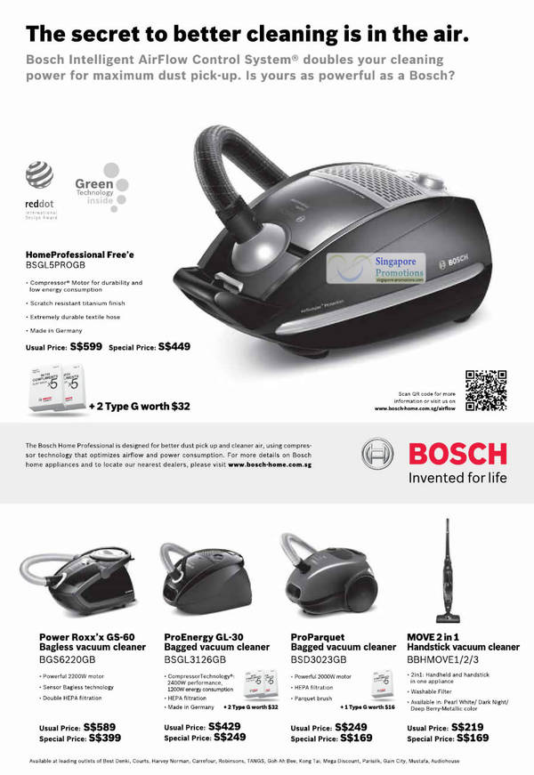 Verrassend List of Bosch Pro Parquet Vacuum Cleaner BSD3023GB related Sales HQ-28