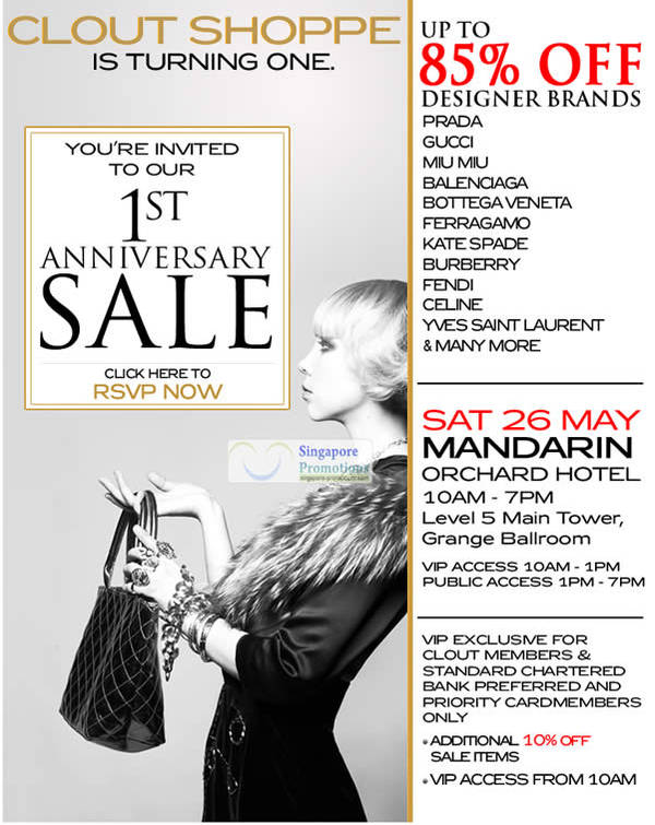 Clout Shoppe Branded Handbags Up To 85% Off Sale 26 May 2012. Mandarin  Orchard Hotel ... 5a6a06442ad11