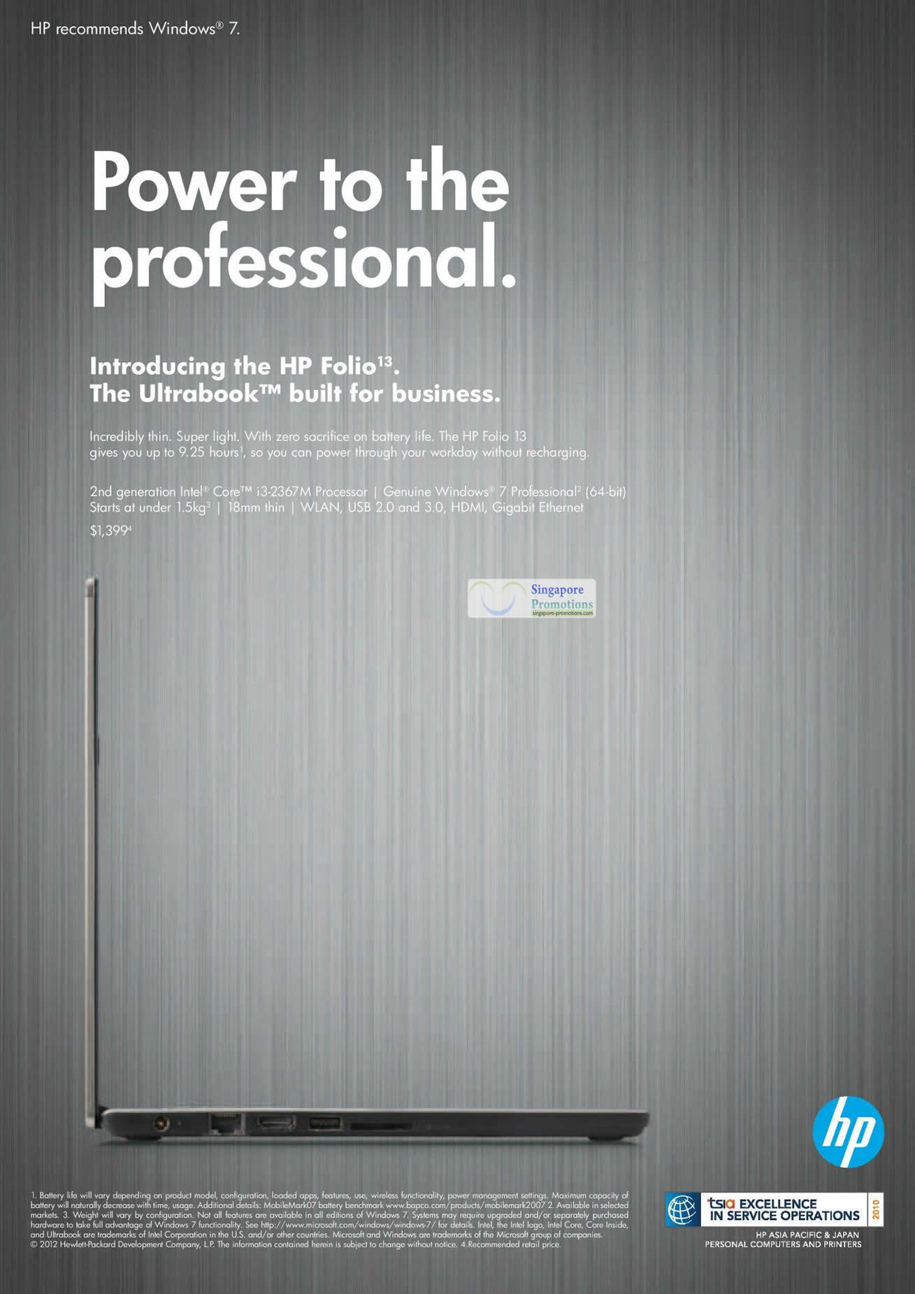 HP Folio 13 Ultrabook Notebook Features