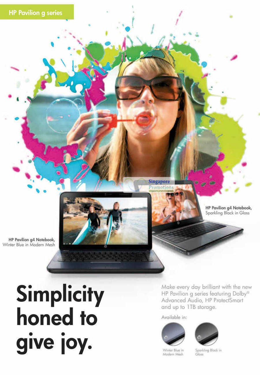 HP Pavilion G Series Notebook Features