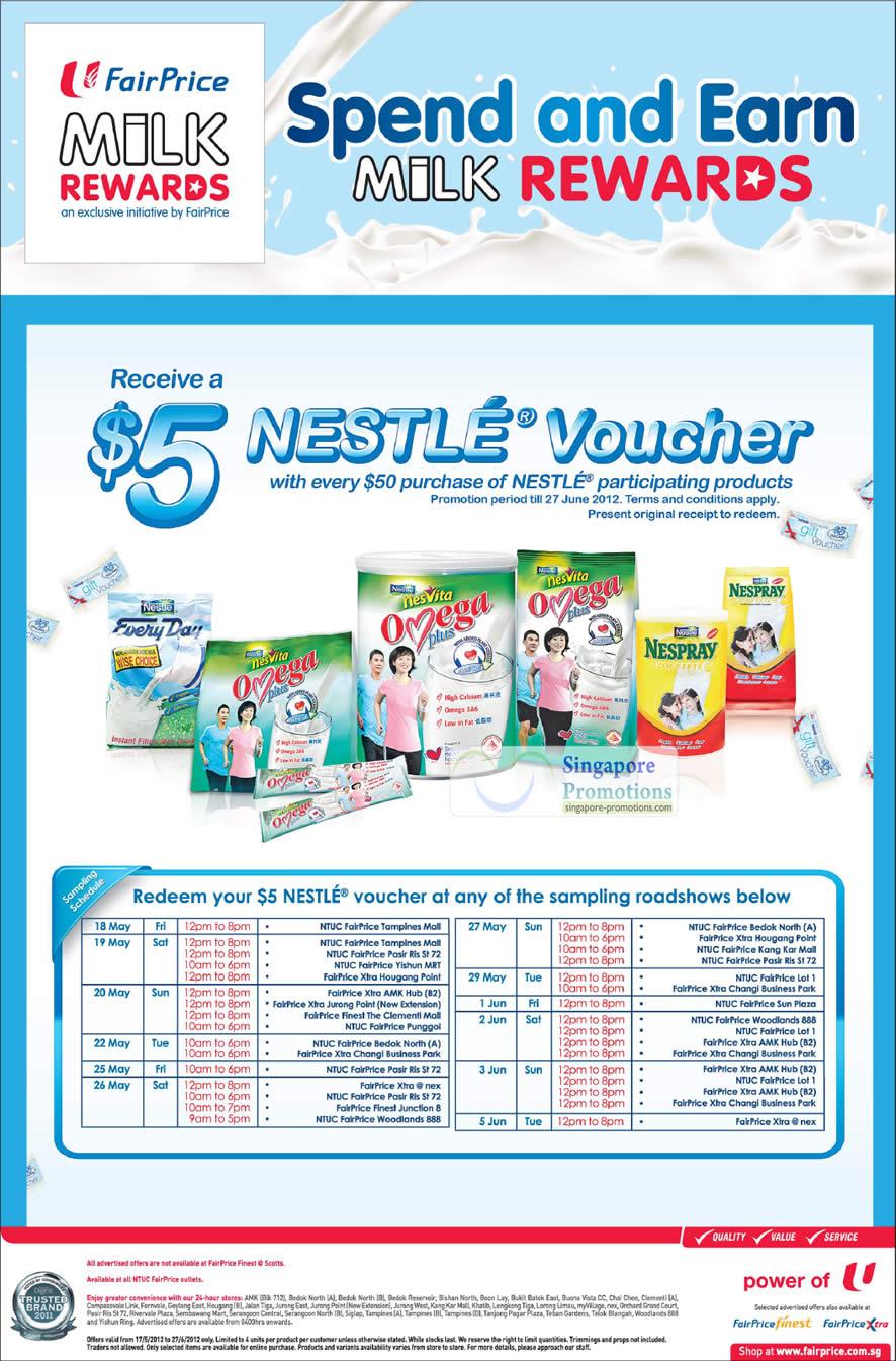 Nestle Voucher, Nespray, Omega Plus