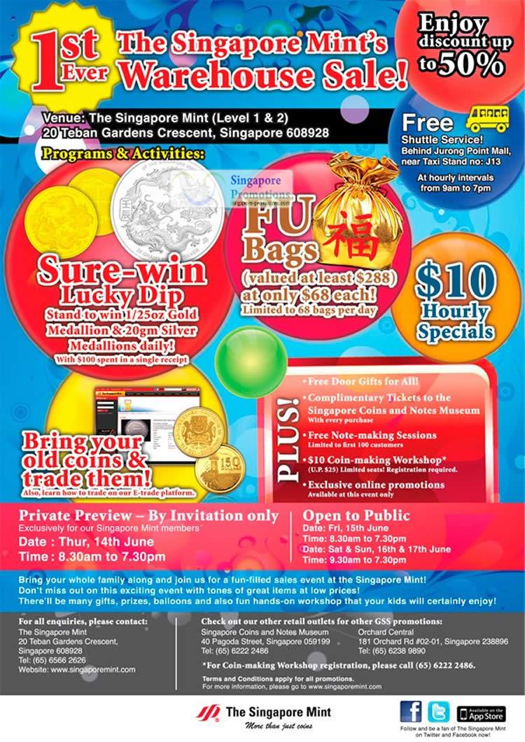 Singapore Mint 29 May 2012