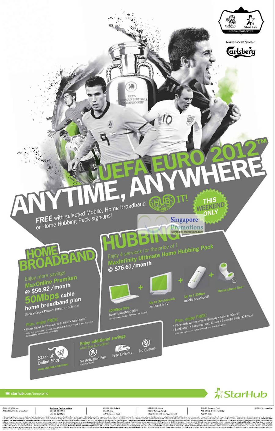 UEFA 2012 Free With Selected Mobile, Home Broadband, Hubbing Pack
