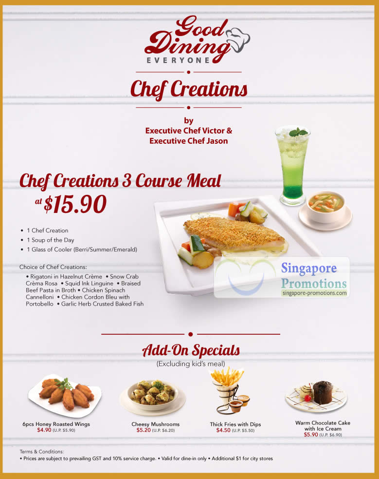 Chef Creations 3 Course Meal