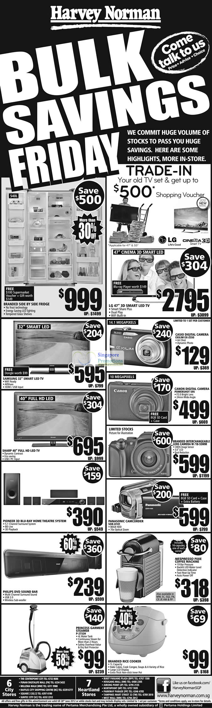 PRINCESS GARMENT STEAMER P-2732H, PANASONIC CAMCORDER SDR-H101, CANON Digital Camera POWERSHOT S95, CASIO Digital Camera EXILIM EX-Z550