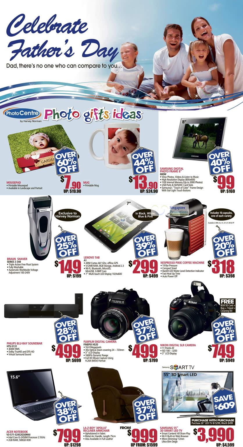 Fathers Day Photo Mug Mousepad Digital Photo Frame