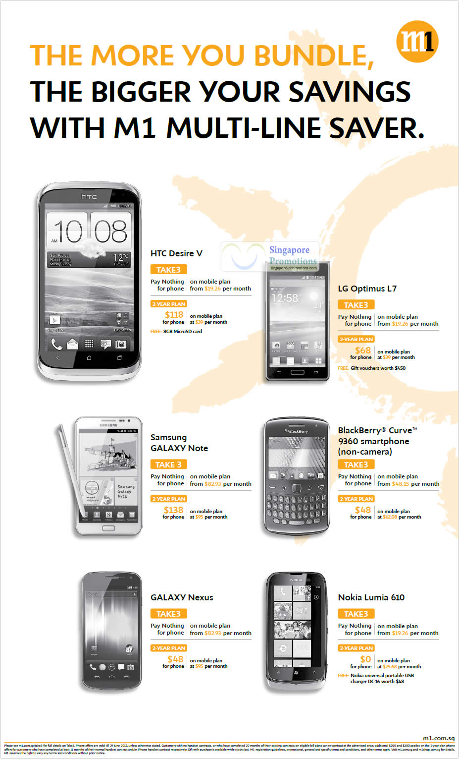 HTC Desire V, LG Optimus L7, Samsung Galaxy Note, Blackberry Curve 9360, Galaxy Nexus, Nokia Lumia 610