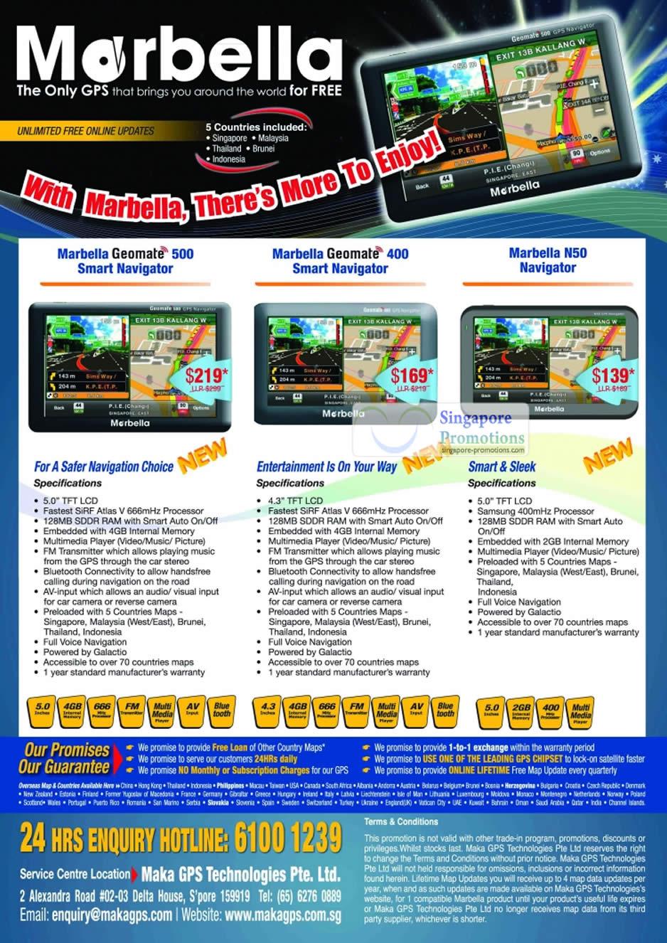 2 Aug Marbella Geomate 500n Geomate 400, N50 Navigator
