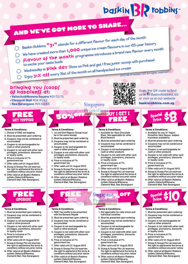 It is a picture of Insane Baskin Robbins Printable Coupons 2020