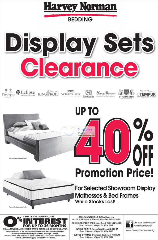 Display Sets Clearance