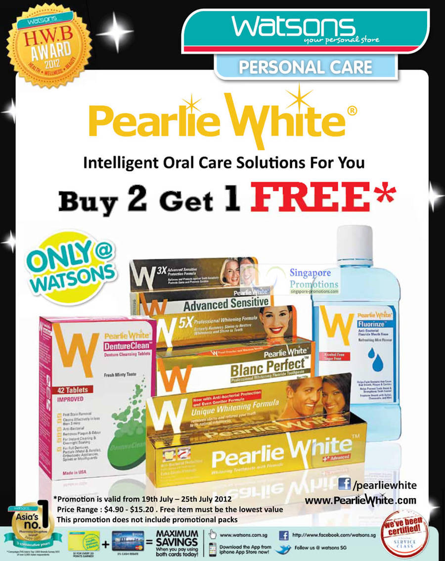 Pearlie White Advanced Sensitive, Pearlie White Blanc Perfect