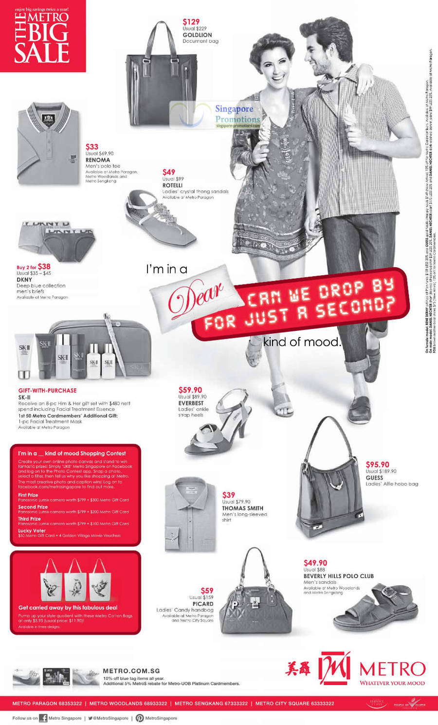 GOLDLION Document bag, RENOMA Men's polo tee, PICARD Ladies' Candy handbag, THOMAS SMITH Men's long-sleeved shirt, GUESS Ladies' Alfie hobo bag, BEVERLY HILLS POLO CLUB Men's sandals, EVERBEST Ladies' ankle strap heels, ROTELLI Ladies' crystal thong sandals