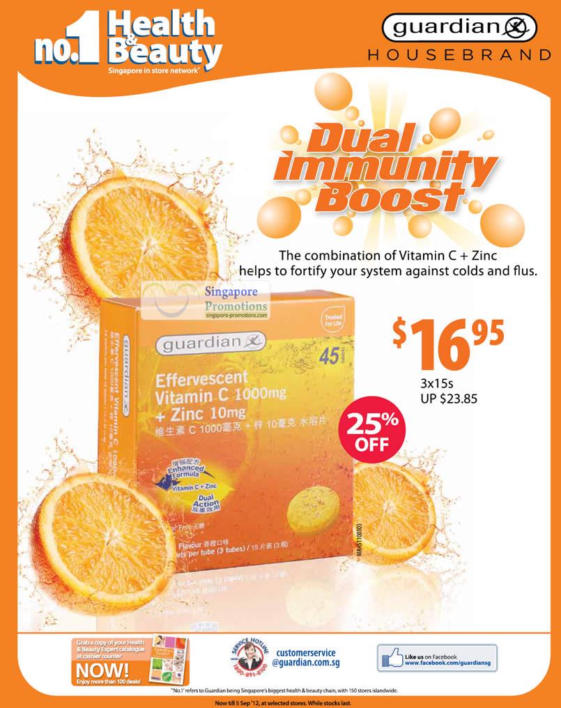 Guardian Effervescent Vitamin C + Zinc