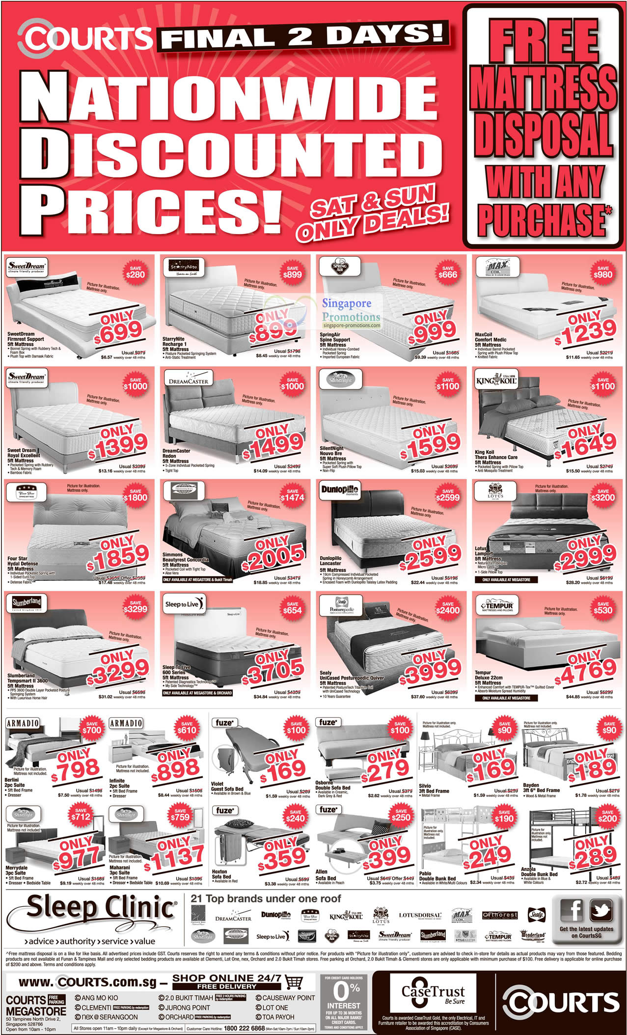 Mattresses Dreamcaster Sleep To Live Four Star Simmons