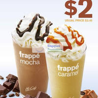 Mcdonalds 15 Aug 2012 Mcdonald S Singapore 2 Mocha Frappe Caramel Frappe Coupon 16 22 Aug 2012 Singpromos Com