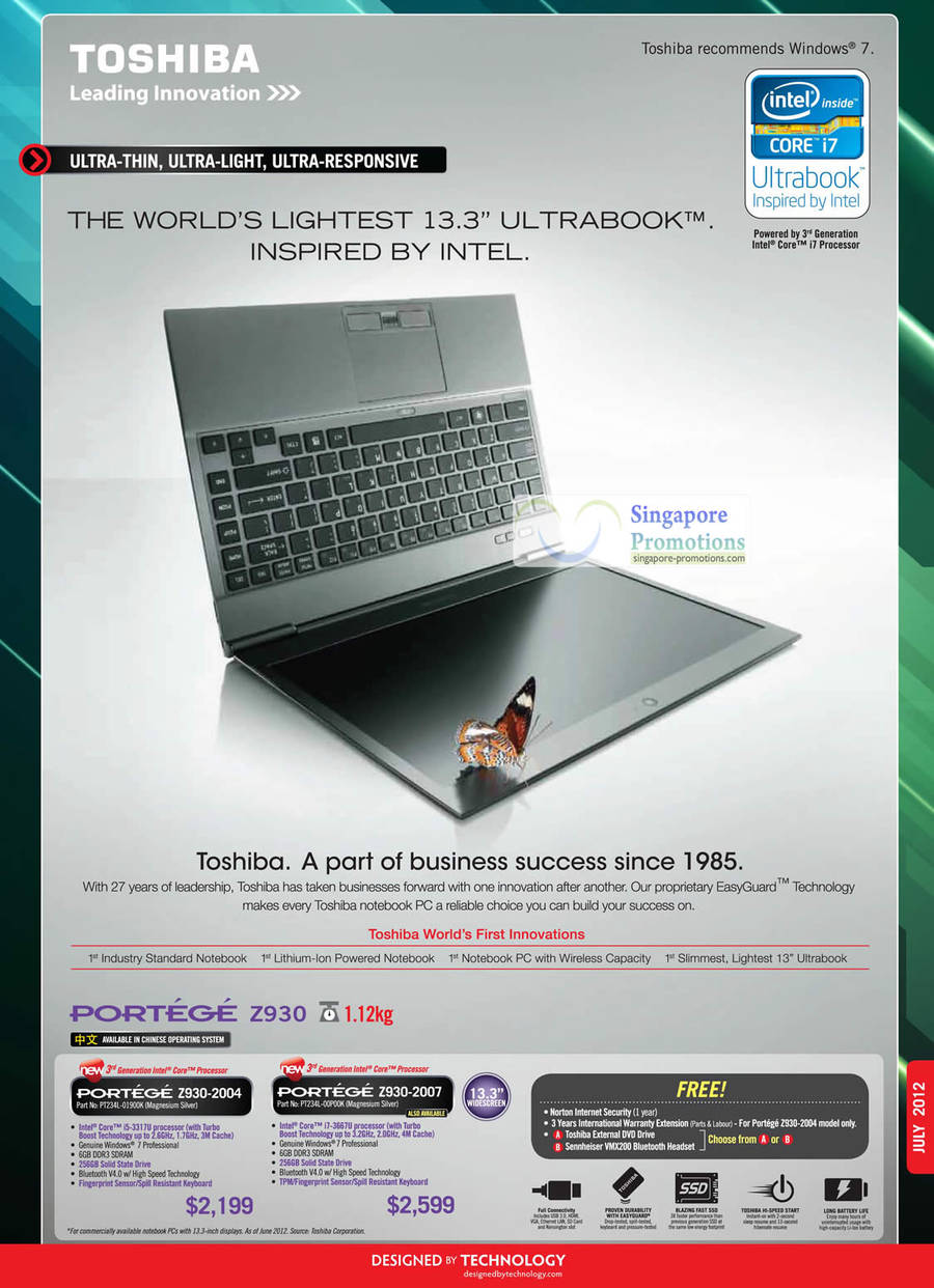 Toshiba PORTEGE Z930-2004 Notebook