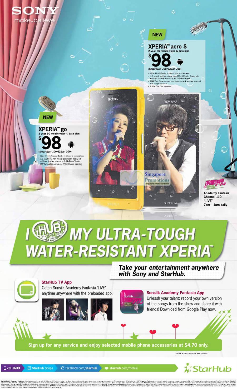 Sony Xperia Arco S, Sony Xperia Go