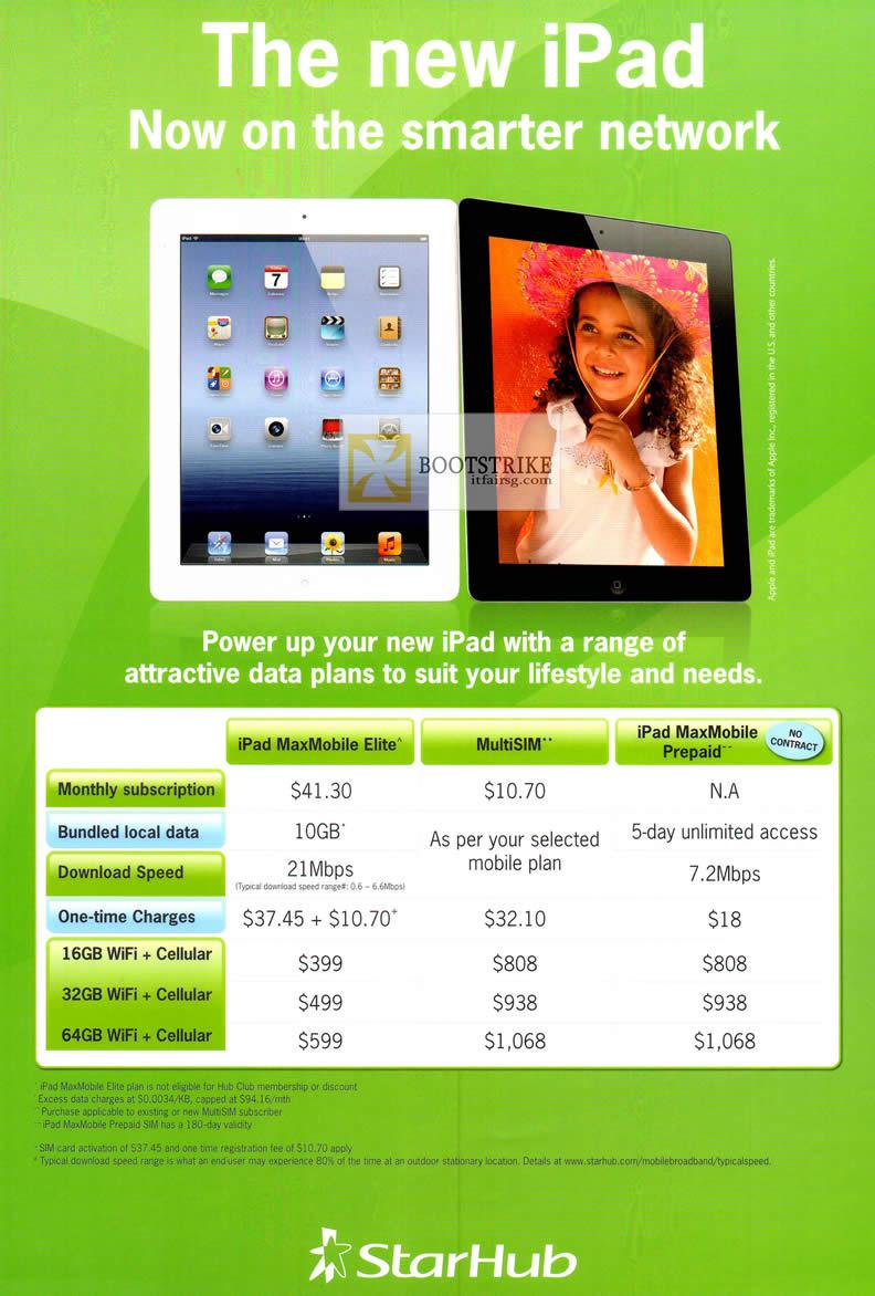 Starhub Apple iPad Plans