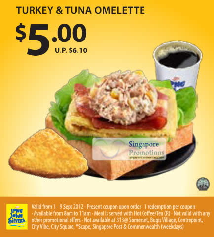 5.00 Turkey and Tuna Omelette Coupon