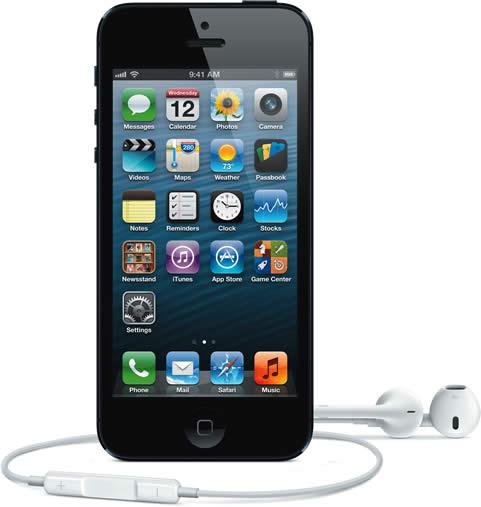 Apple iPhone 5 Black with Earphones