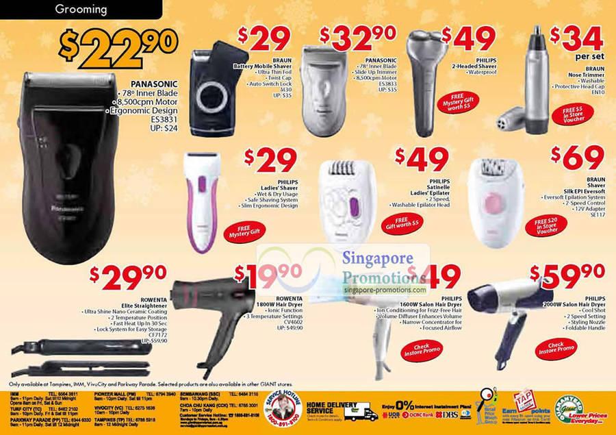 Braun EN10 Nose Trimmer, Braun SE117 Shaver