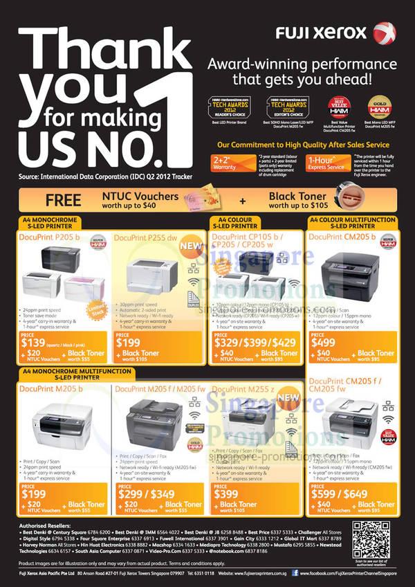 List of Fuji Xerox DocuPrint M355 Df Laser Printer related