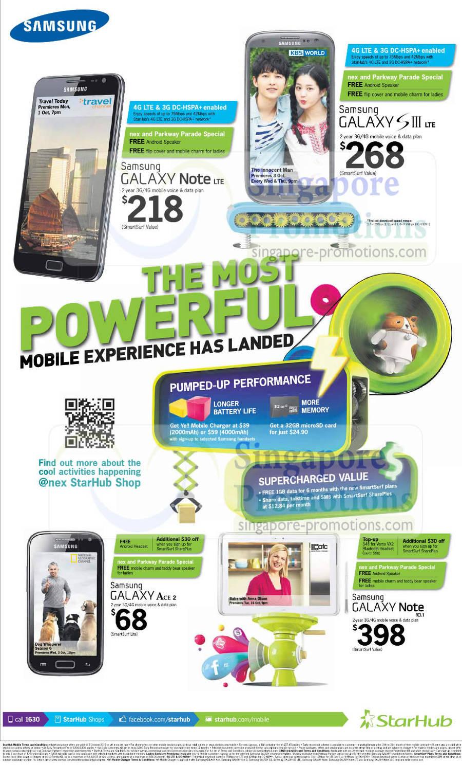 Samsung Galaxy Note LTE, Samsung Galaxy S III LTE, Samsung Galaxy Ace 2, Samsung Galaxy Note 10.1
