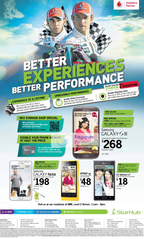 Samsung Galaxy S III, Note, Sony Xperia Go, LG Optimus L7, IMM Roadshow