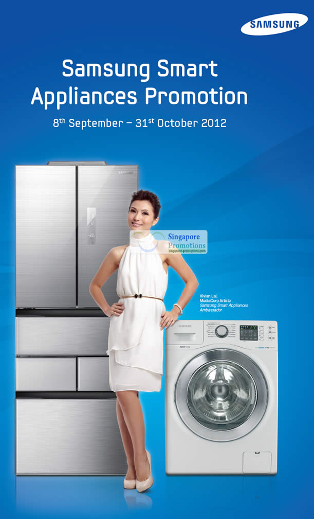 samsung smart washers fridge promotion offers 8 sep 31 oct 2012. Black Bedroom Furniture Sets. Home Design Ideas