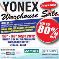 Yonex Warhouse Sale Thumbnail 19 Sep 2012