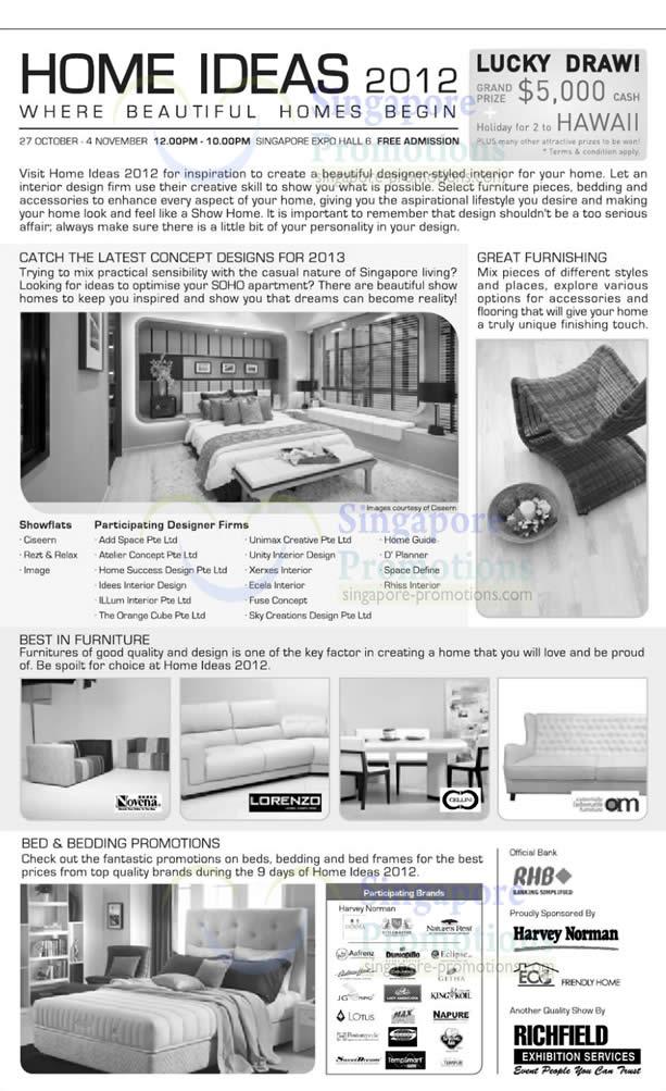 Home Ideas 2012 @ Singapore Expo 26 Oct – 4 Nov 2012