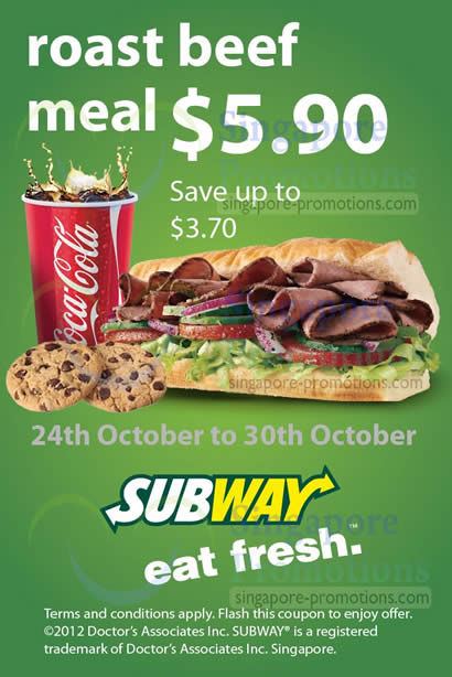 5.90 Roast Beef Meal Coupon