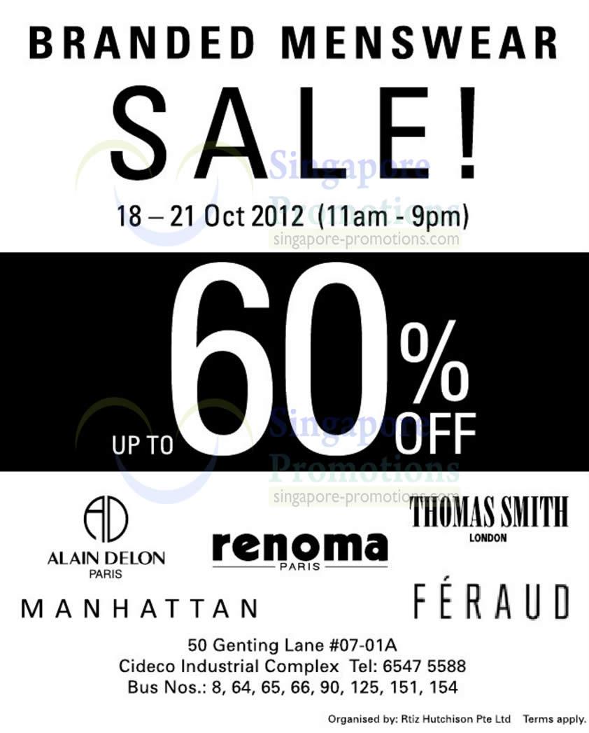 Branded Menswear Sale 18 Oct 2012