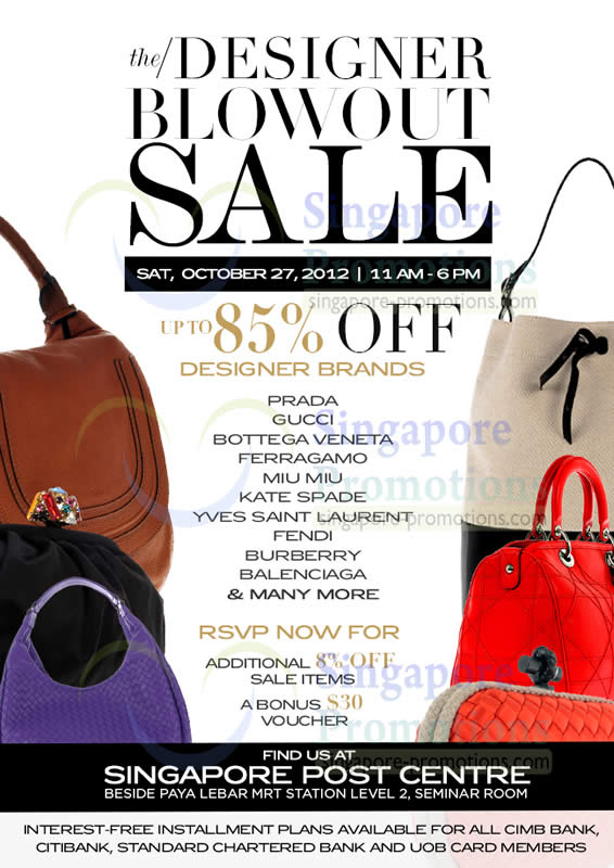 Clout Shoppe Branded Handbags Up To 85% Off Sale 27 Oct 2012 fea3850b2ea50