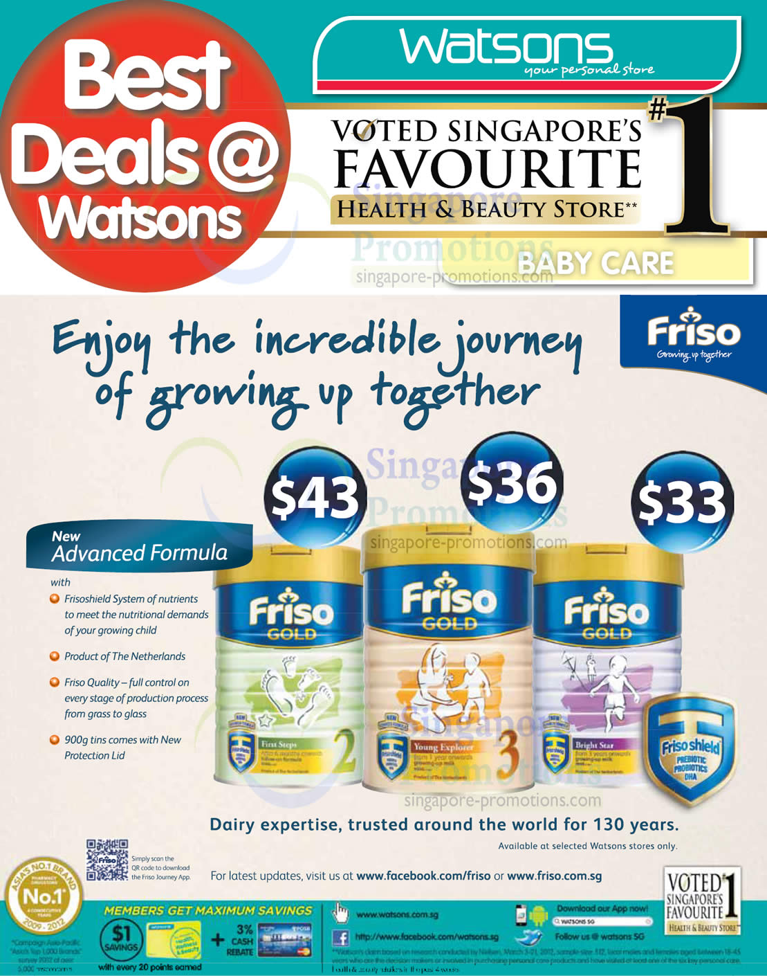 Friso Gold 23 Watsons Personal Care Health Cosmetics Beauty Frisolac 2 900gr