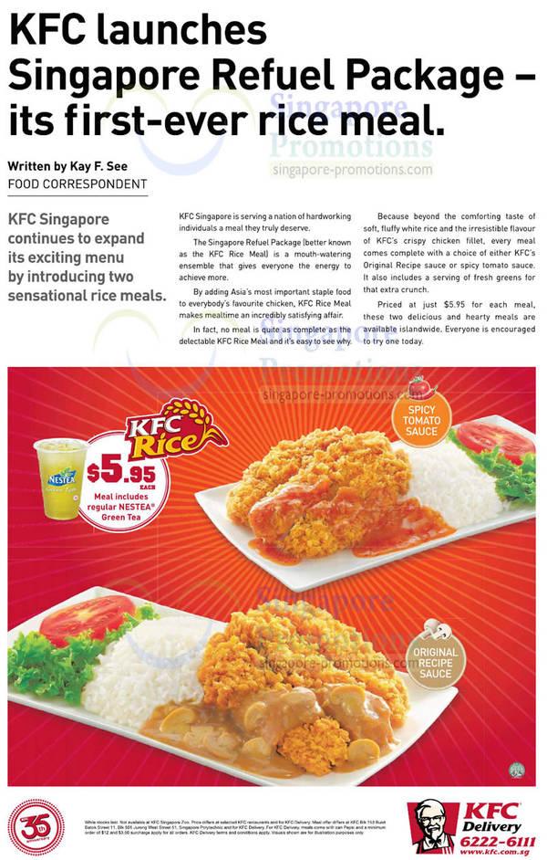 KFC Menu Prices 2012 (Sep 2019) | SINGPromos com