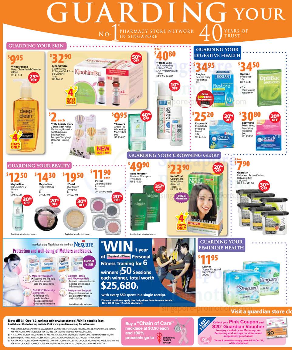 Kinohitmitsu Japan Beauty Collagen Drink, Hada Labo SHA Hydrating Lotion, Nexcare Maternity Support, Postpartum Support