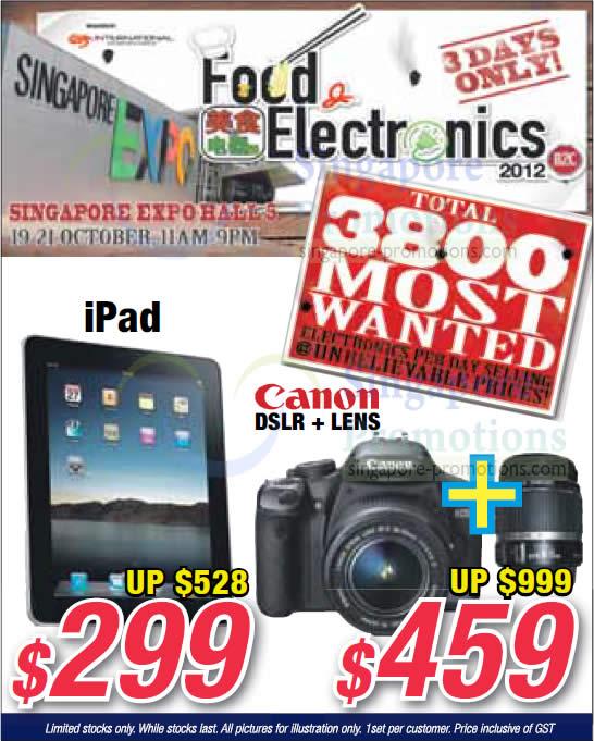 iPad, Canon DSLR Digital Camera