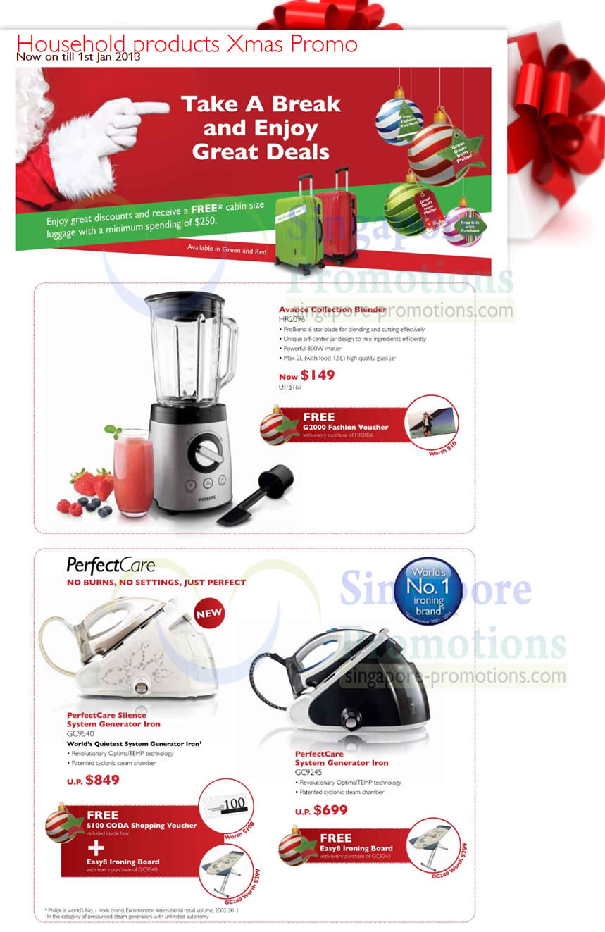 Philips HR2096 Blender, Philips GC9540 Iron , Philips GC9245 Iron
