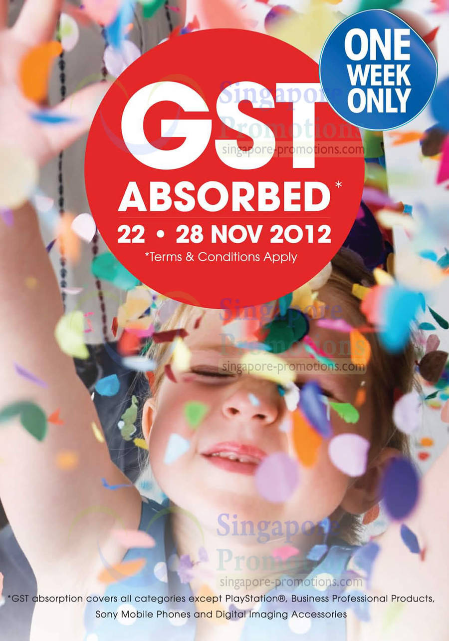Days 2012 One week only GST Absorbed