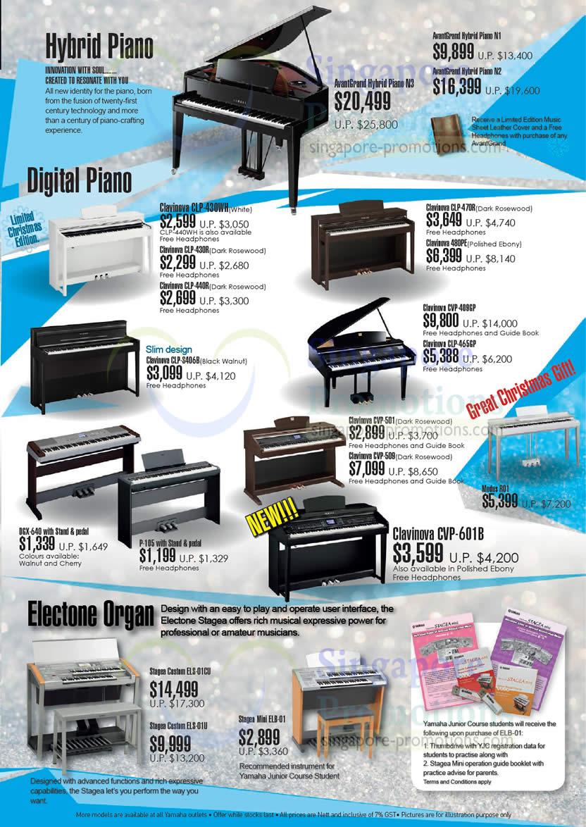Hybrid digital pianos electone organ yamaha festive for Yamaha clavinova cvp 501 for sale