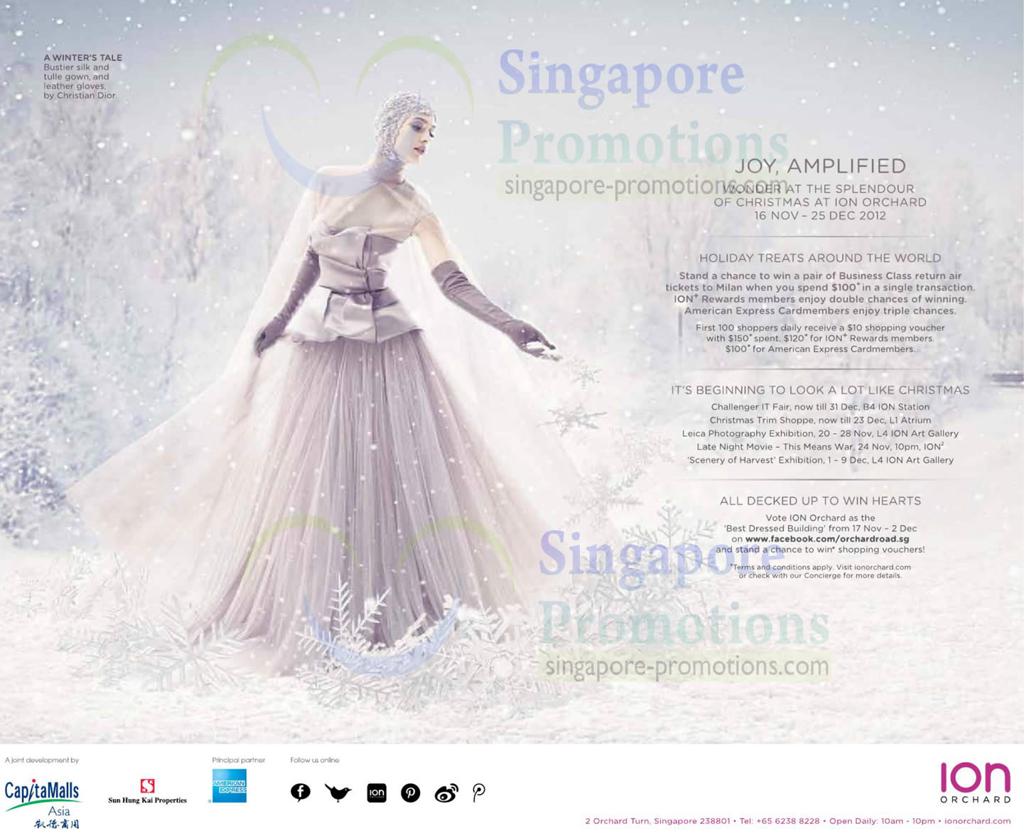 ION Orchard Christmas Promotions & Events 16 Nov – 25 Dec 2012