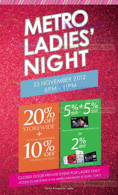 Metro Ladies Night Cover Page