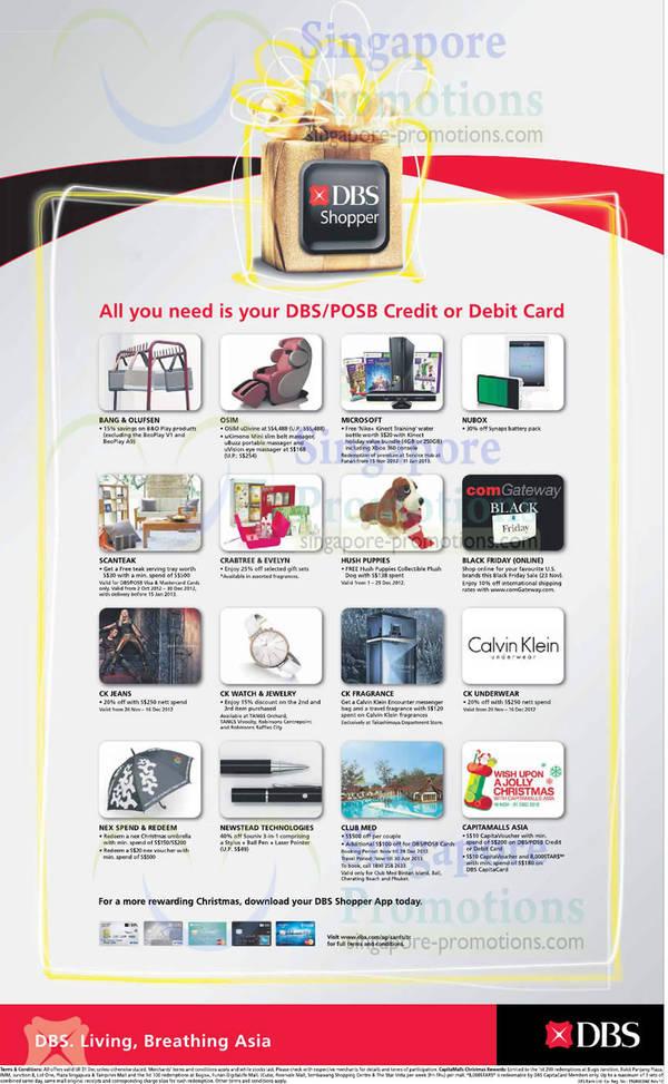 dd694e7ecad DBS POSB Debit Credit Cardmember Shopper Rewards 26 Nov 2012