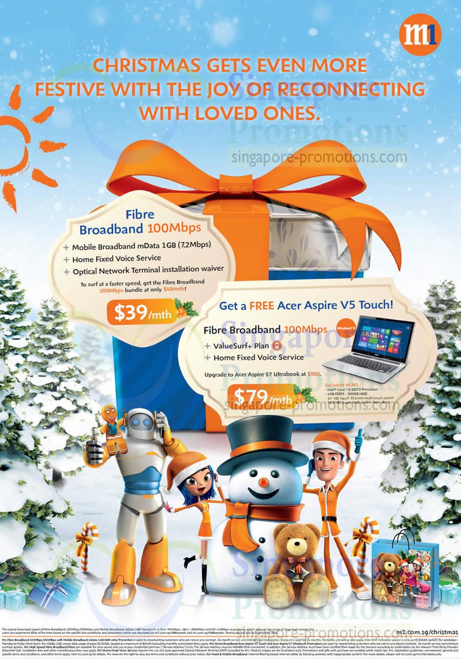 39.00 Fibre Broadband 100Mbps Free Acer Aspire V5 Touch Notebook