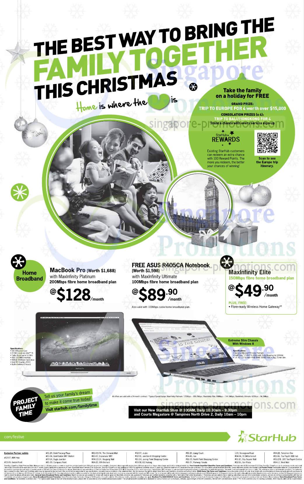 Broadband Free Macbook Pro, Free ASUS R405CA Notebook, MaxInfinity Elite 150Mbps Fibre Home Broadband