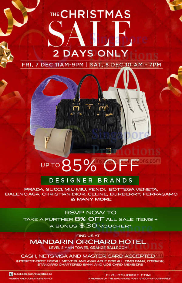 Clout Shoppe Branded Handbags Up To 85% Off Sale   Mandarin Orchard 7 – 8  Dec 2012 3e8d36f14f762