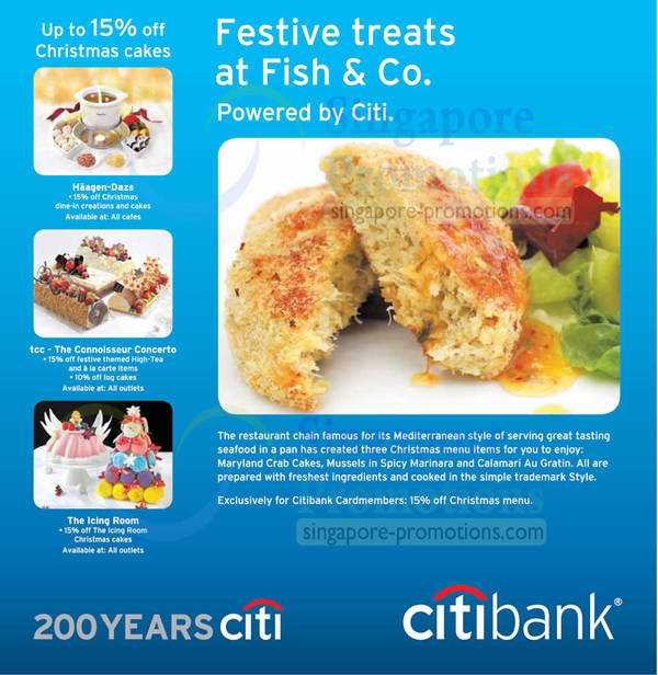 Featured image for Citibank Festive Dining Treats Offers 6 – 31 Dec 2012