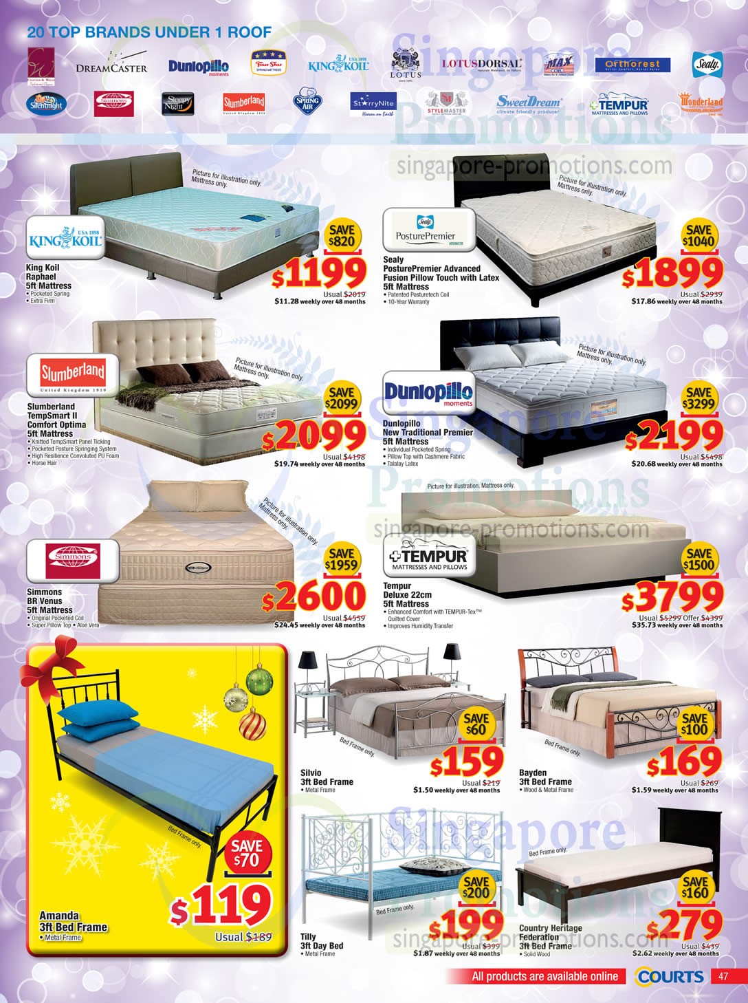 Mattresses Bed Frames King Koil Sealy Slumberland