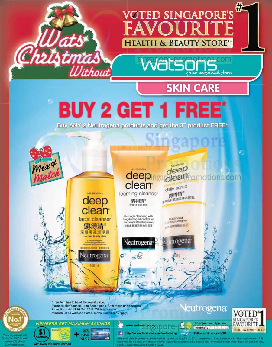 Neutrogena Deep Clean Facial Cleanser, Foaming Cleanser, Blackhead Scrub